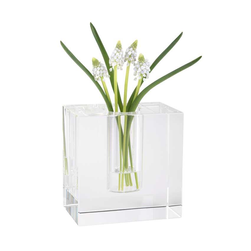 Dioptrics Kristallglas Vase - Quader M - von der Gift Company