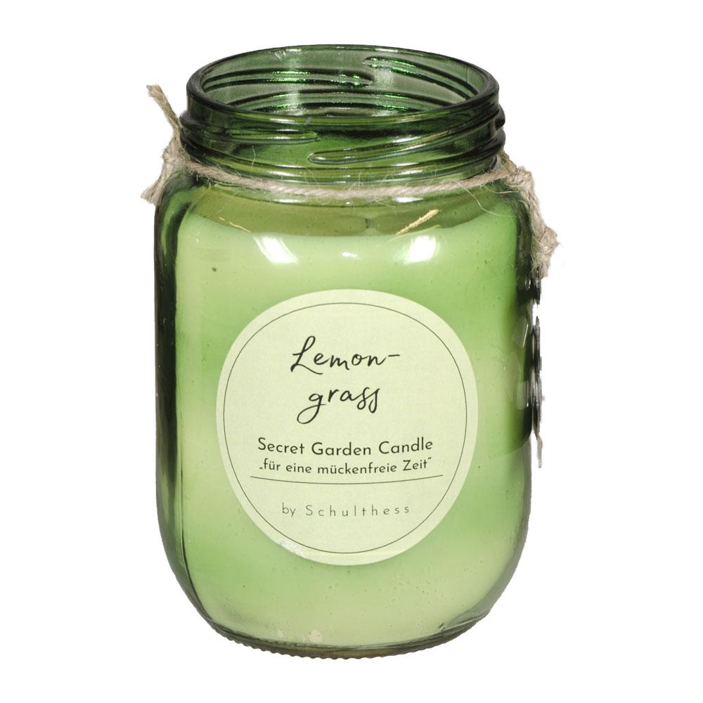 Antimücken - Duftkerze Lemongrass von Schulthess Kerzen
