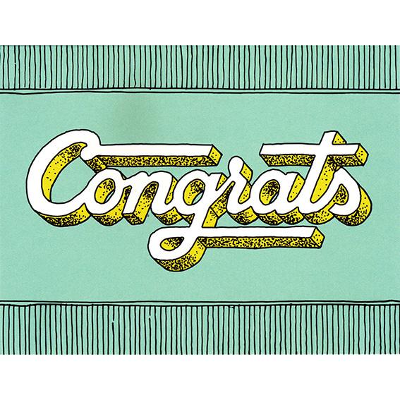 "Glückwunschkarte ""CONGRATS"" von Hester & Cook"