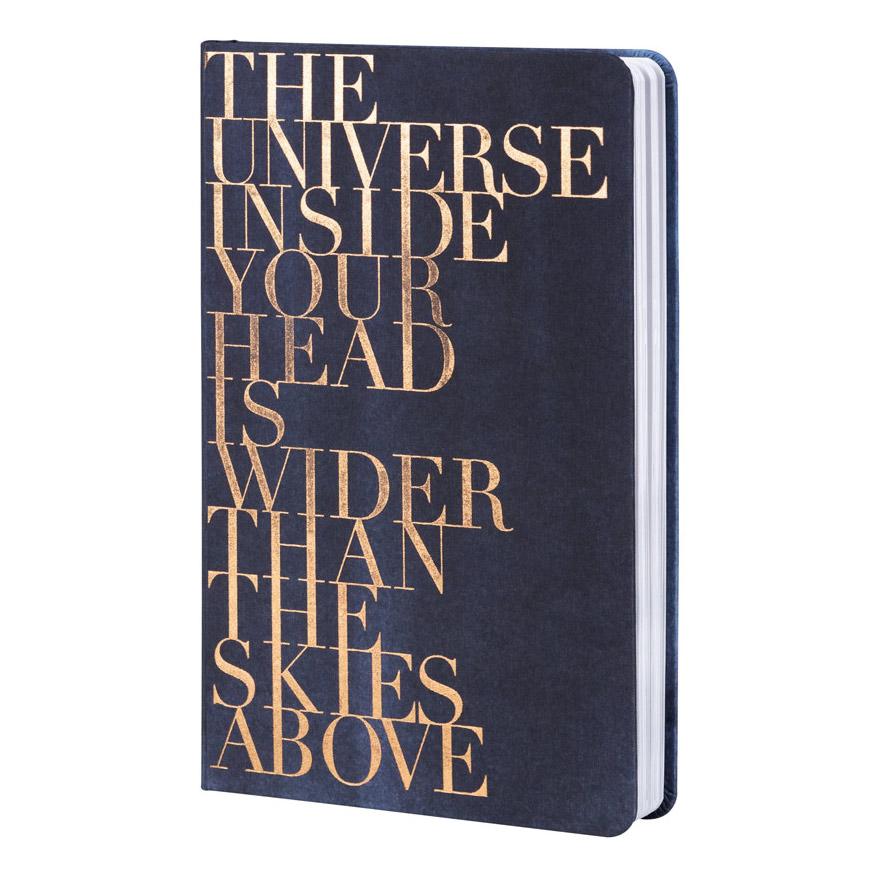 """Tintenblau. Notizbuch. """"The Universe inside..."""" - Papeterie von Räder"""