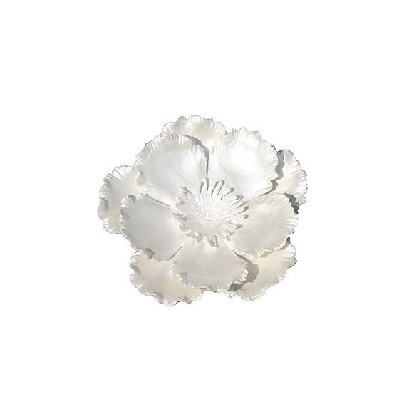 Cosmos Walldecoration - Keramikwandblüte in Perlmutt - klein