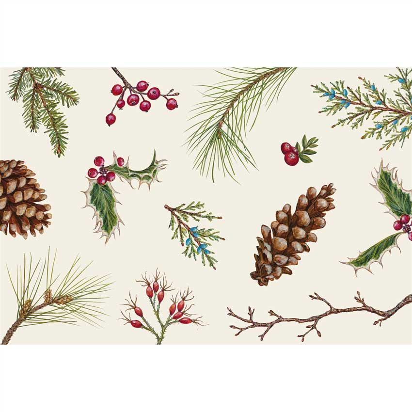 "Placemats - Papier Tischsets ""WINTER COLLAGE"" von Hester & Cook"