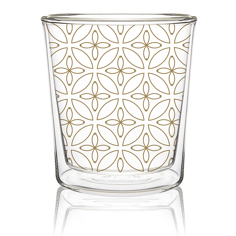 Kyoto real gold - Double wall Trend Glas von PPD