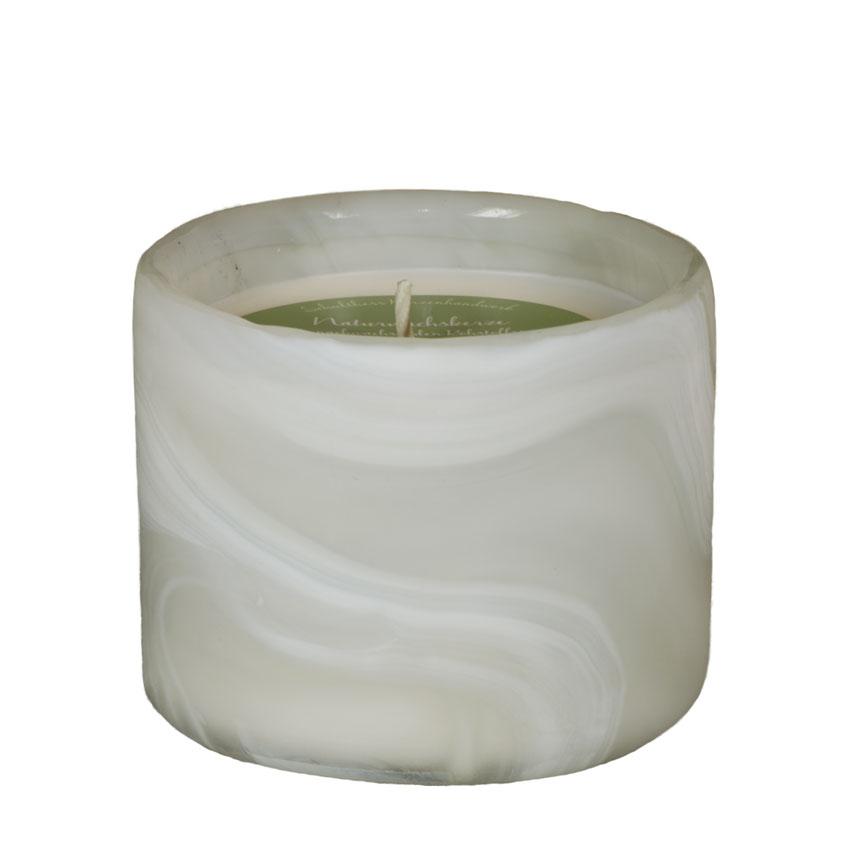 Marble Zylinder weiss - Citrus Relax - von Schulthess Kerzen