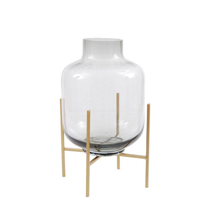 Glasvase Cielo small auf Metallständer -  von Miljögarden