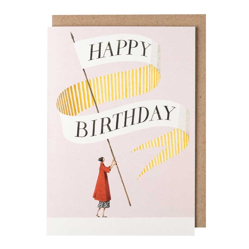 """Grußkarte """"BIRTHDAY BANNER LADY"""" von Laura Stoddart"""