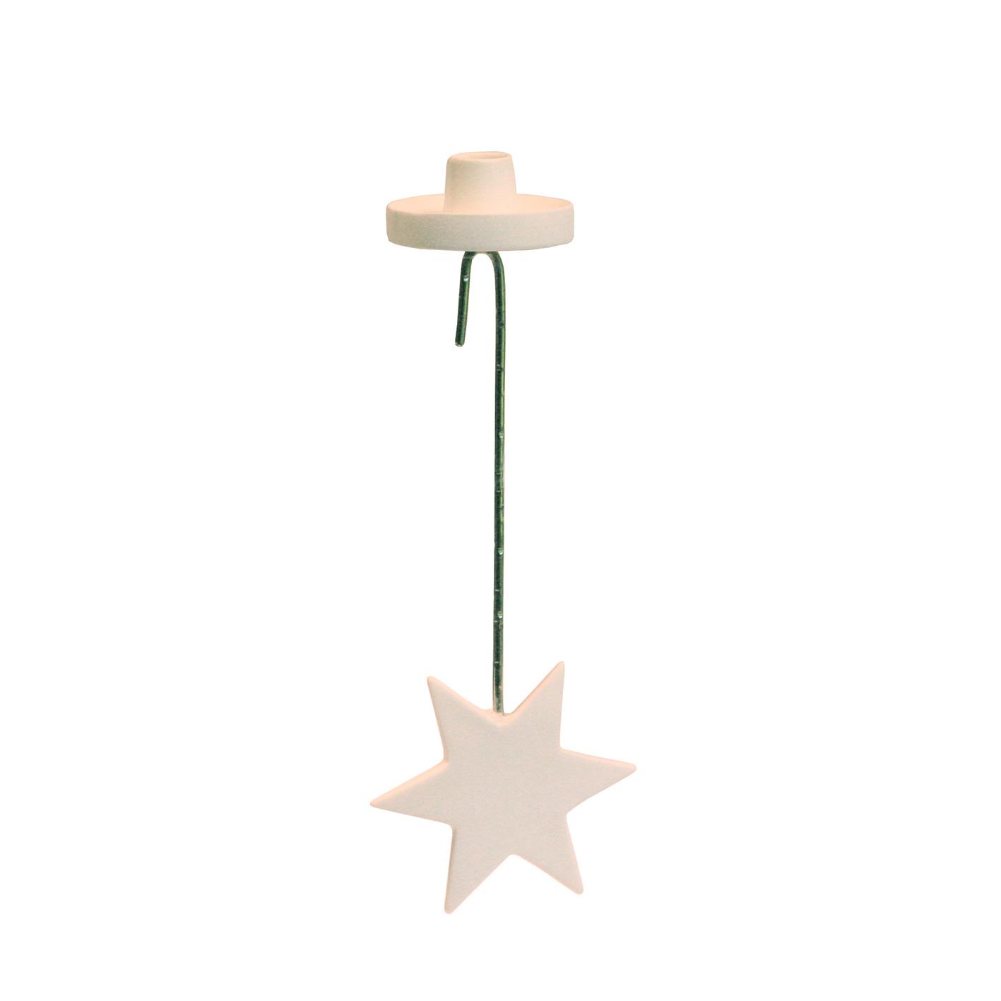 """Zweighänger """"Stern"""" für Kerzen - aus New Bone China Porzellan"""