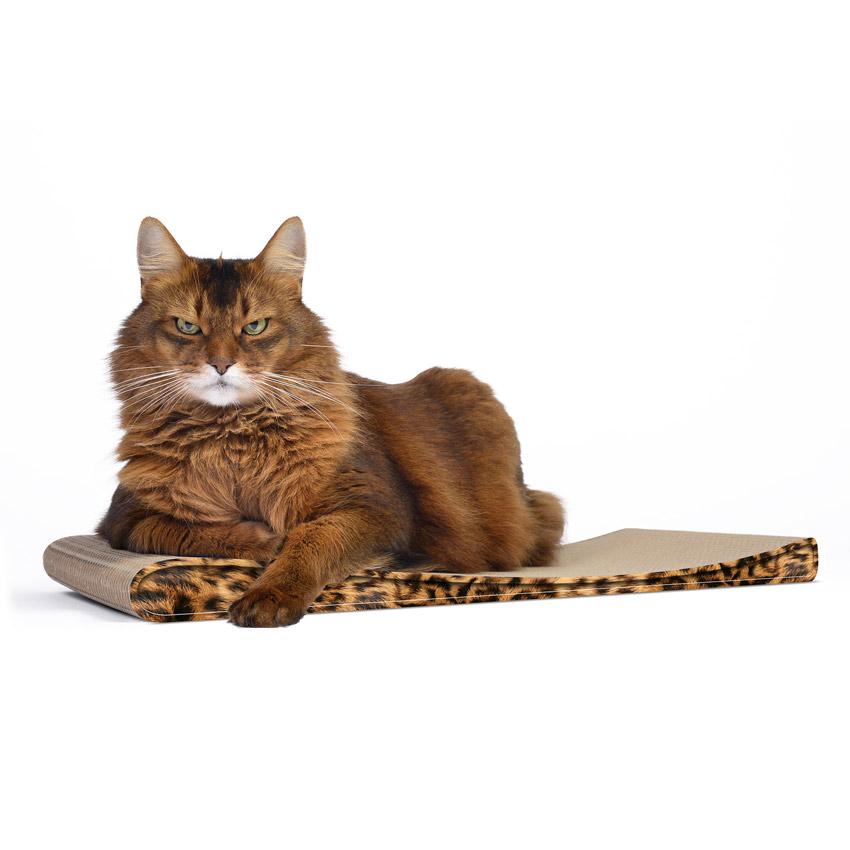 Lounger Slim Line - Farbwelt leopard - Kratzmöbel für Katzen