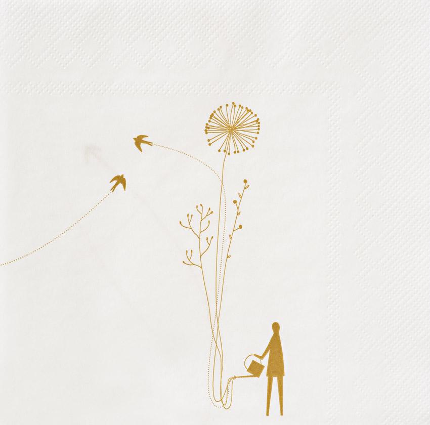 """""""Wunderland Blumen"""", große Papierservietten - Design Stories von Räder"""