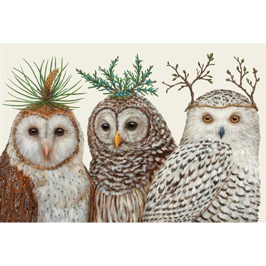 """Placemats - Papier Tischsets """"WINTER OWLS"""" von Hester & Cook"""