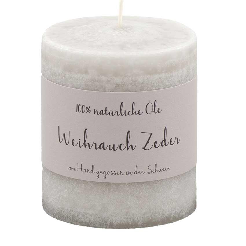 Weihrauch / Zeder - Schulthess Duftkerze mit 100% natürlichen Ölen
