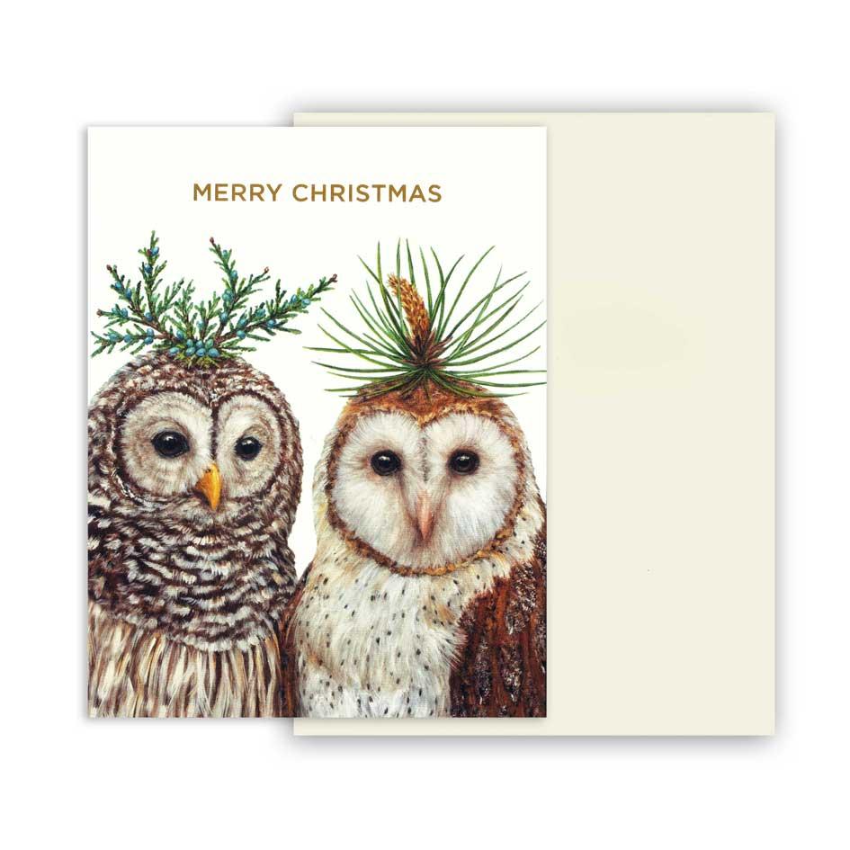"""Weihnachts Grußkarte """"WINTER OWL'S"""" von Hester & Cook"""