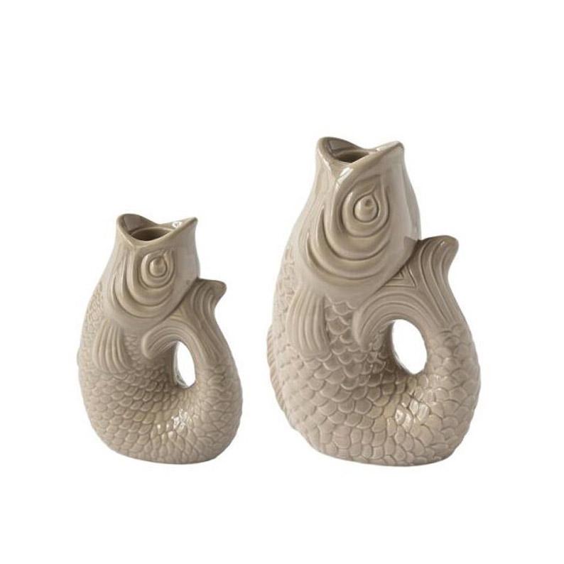 Monsieur Carafon Kerzenhalter - Farbe Sandstone - erhältlich in 2 Größen