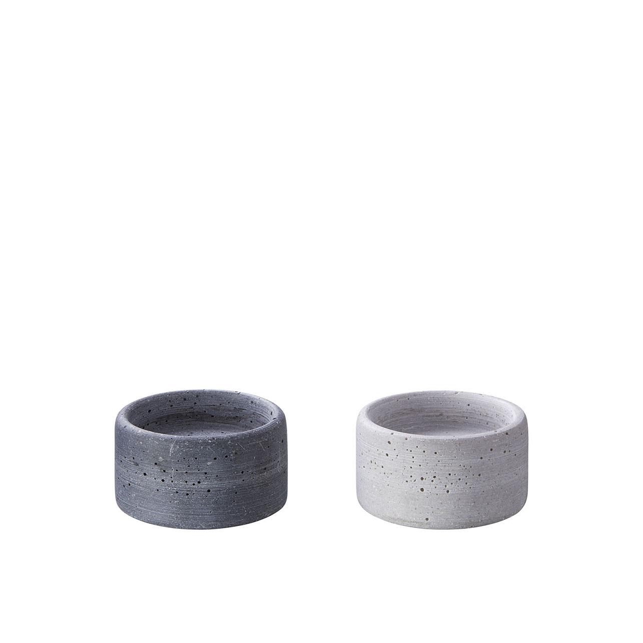 Kerzenteller OLE klein - grau oder anthrazit - von Engels Kerzen