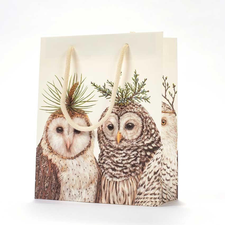 """Geschenktasche """"WINTER OWLS"""" von Hester & Cook"""