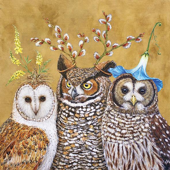 """""""Owl Family"""", große Papierservietten von PPD"""