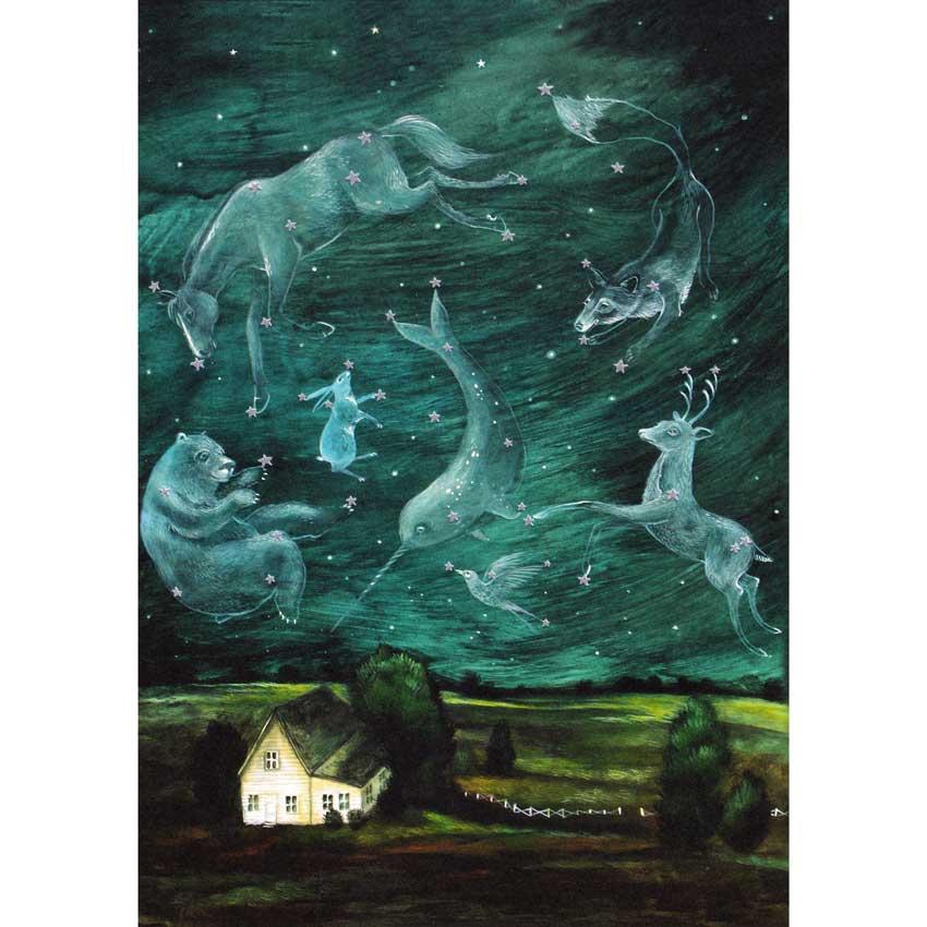 "Große Glückwunschkarte ""SKY OF WONDER"" von Hester & Cook"