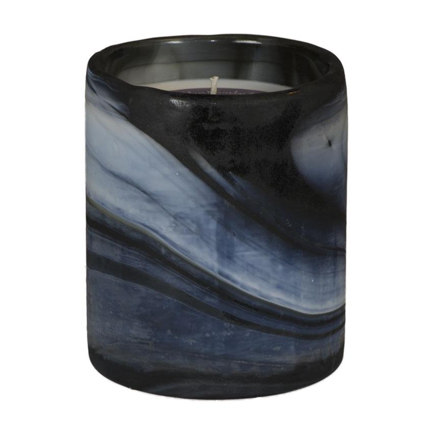 Marble Pot blau Aromatic Relax - von Schulthess Kerzen
