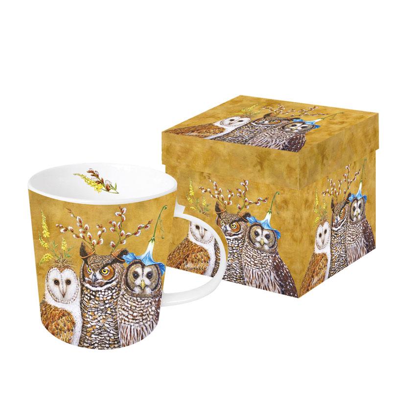 Owl Family - die große Porzellantasse von PPD