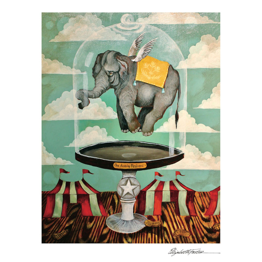 """""""THE AMAZING FERDINAND""""- Art Print von Elizabeth Foster - liebenswerte und skurrile Kunst von Hester & Cook"""