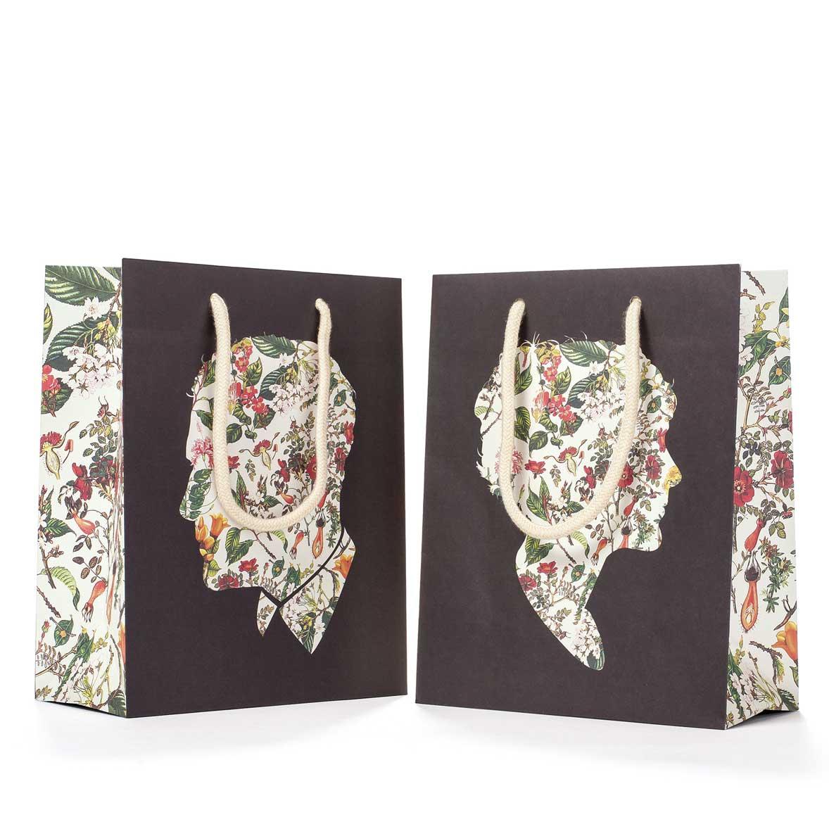 """Geschenktasche """"FLORAL SILHOUETTE CUB BAG"""" von Hester & Cook"""