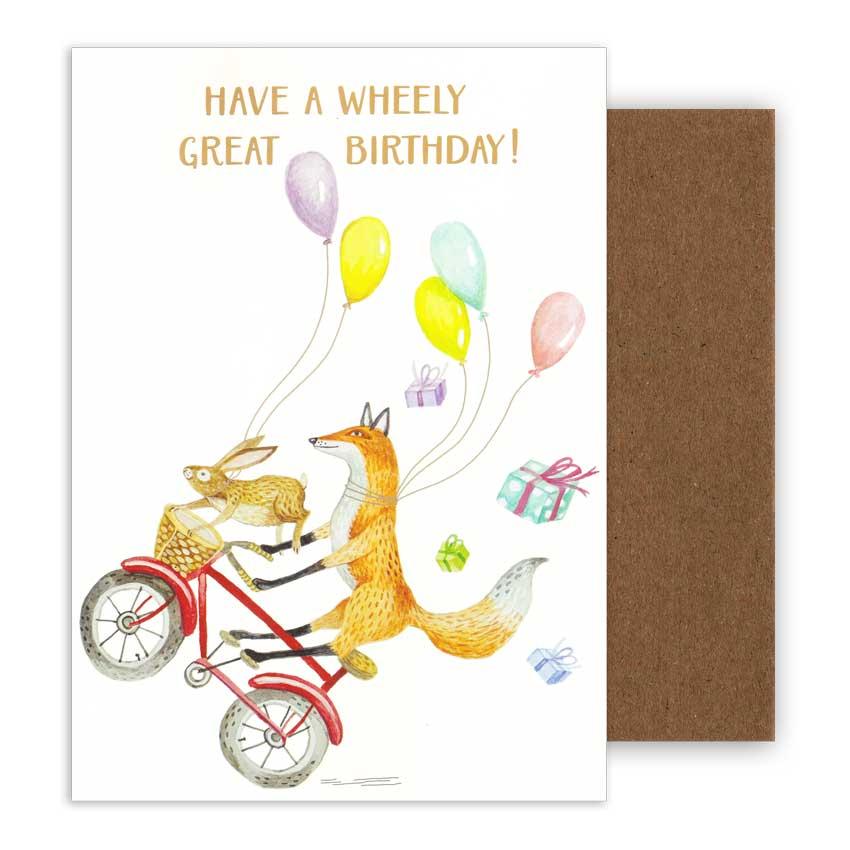 """Große Geburtstagskarte """"WHEELY GREAT BIRTHDAY"""" von Hester & Cook"""