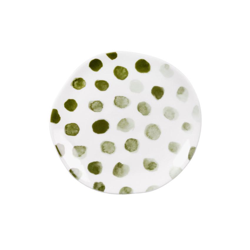"""kleiner Teller """"Punkte salbeigrün"""" - Serie Mix & Match von Räder - Design Stories"""