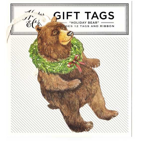 """Gift Tag - Geschenk Anhänger """"HOLIDAY BEAR"""" von Hester & Cook"""