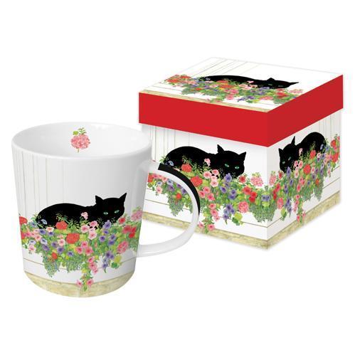 Black Cat Flower Box - die große Porzellantasse von PPD