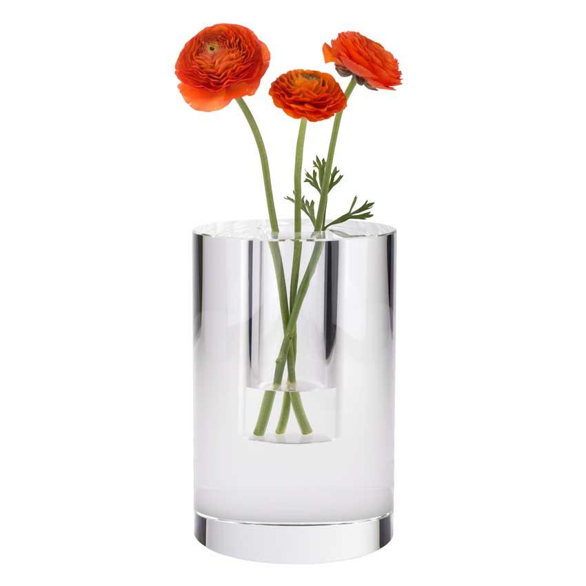 Dioptrics Kristallglas Vase - Zylinder L - von der Gift Company