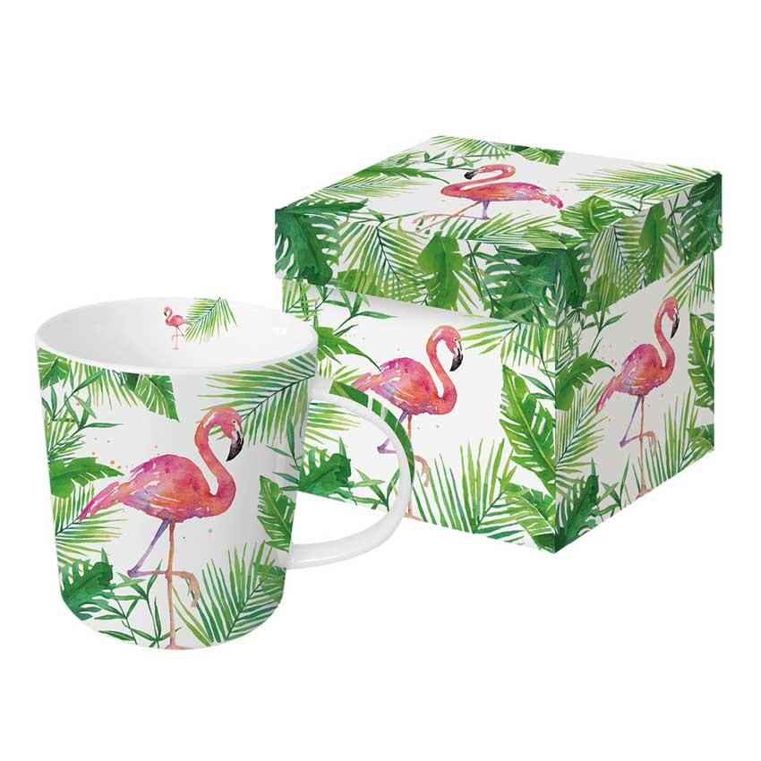 """""""Tropical Flamingo"""" -  Trend Mug und Geschenkebox von PPD"""