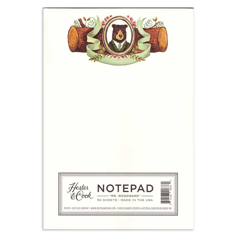 """Notepad - Notizblock  """"MR. WOODWARD"""" von Hester & Cook"""