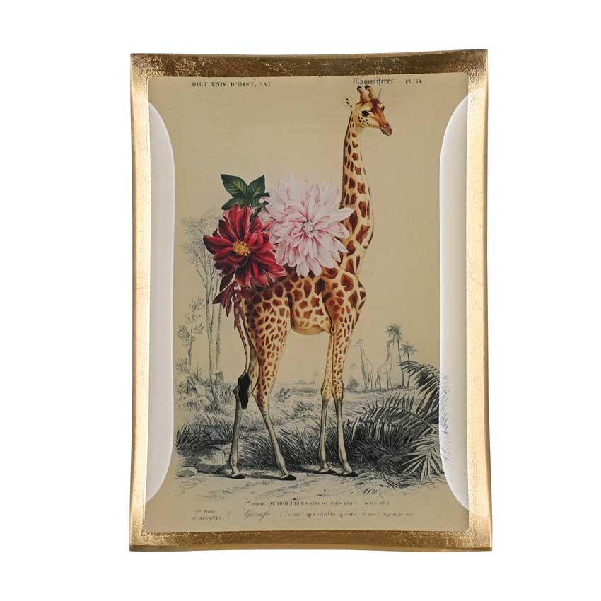 "Love Plates - Glasteller ""Giraffe"" von Gift Company"
