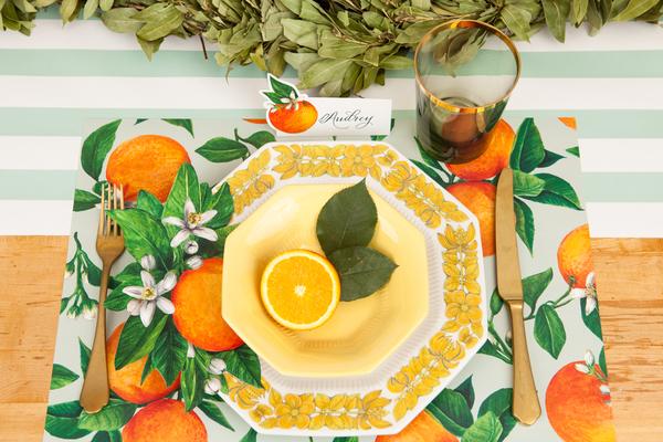 """Placemats - Papier Tischsets """"ORANGE ORCHARD"""" von Hester & Cook"""