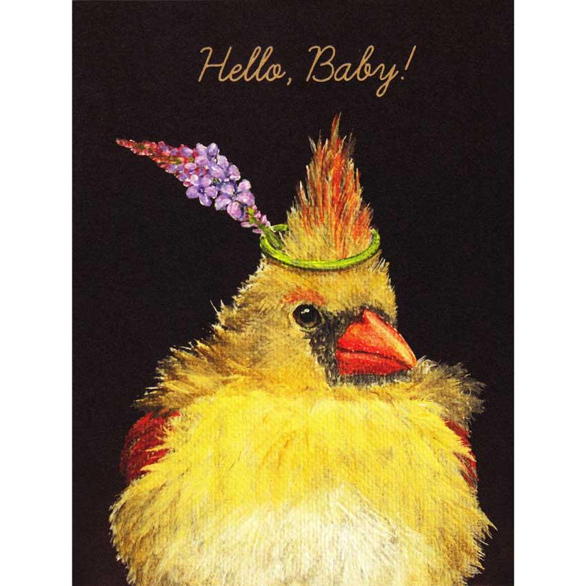 """Grußkarte """"HELLO BABY"""" von Hester & Cook"""