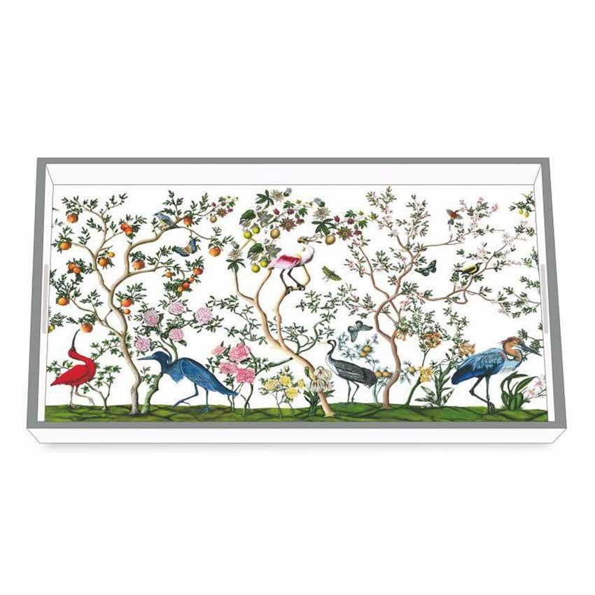 """""""Bird & Branch"""" / Wooden Lacquer Tray - Tablett von PPD"""