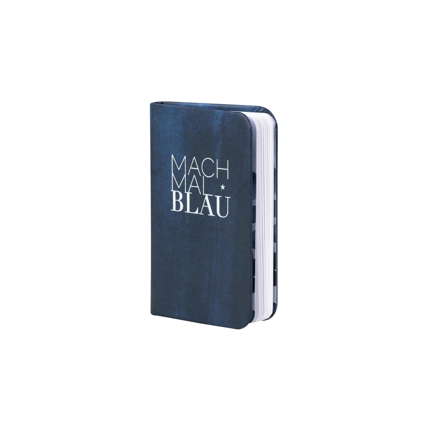 """Tintenblau. Notizbuch. """"Mach mal blau"""" - Papeterie von Räder"""