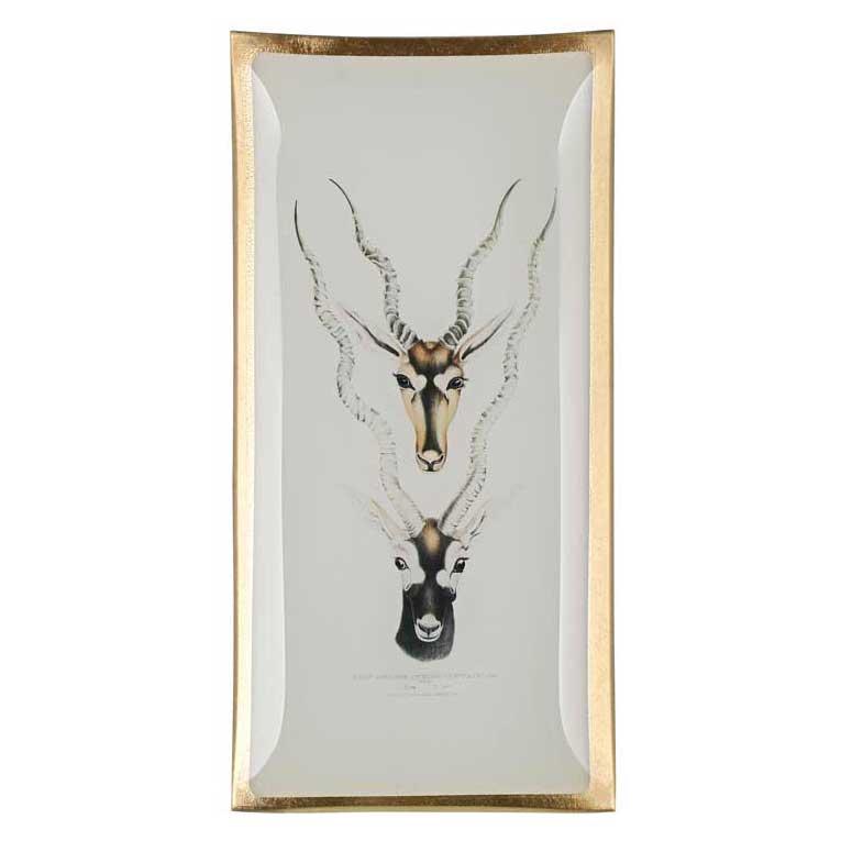 """Love Plates - Glasteller """"Antilopenköpfe"""" von Gift Company"""