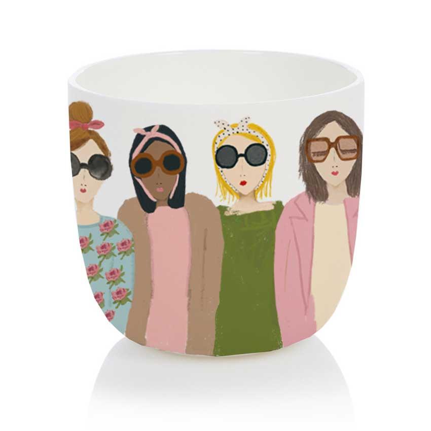 Fashionista Cup - Porzellanbecher / Porzellantasse von Nelly Castro