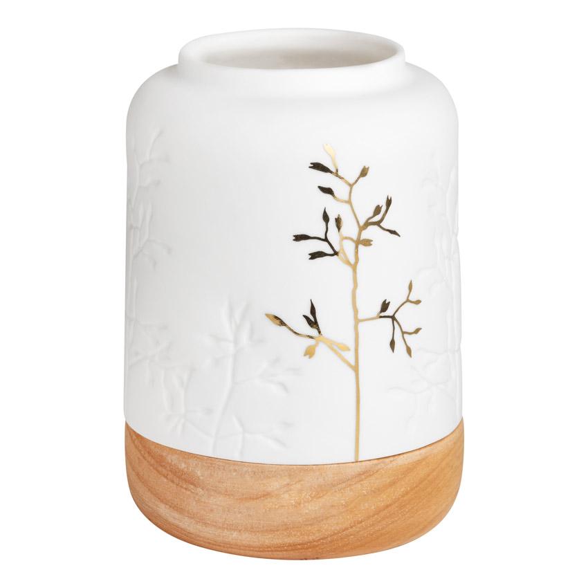 Teelichthalter Goldzweig - Porzellangeschichten von Räder