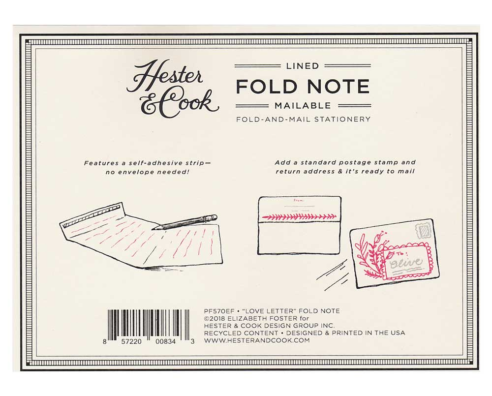 "Fold Note ""LOVE LETTER"" von Hester & Cook"