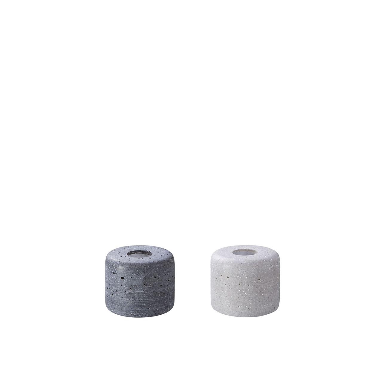 Kerzenhalter LENA klein - grau oder anthrazit - von Engels Kerzen