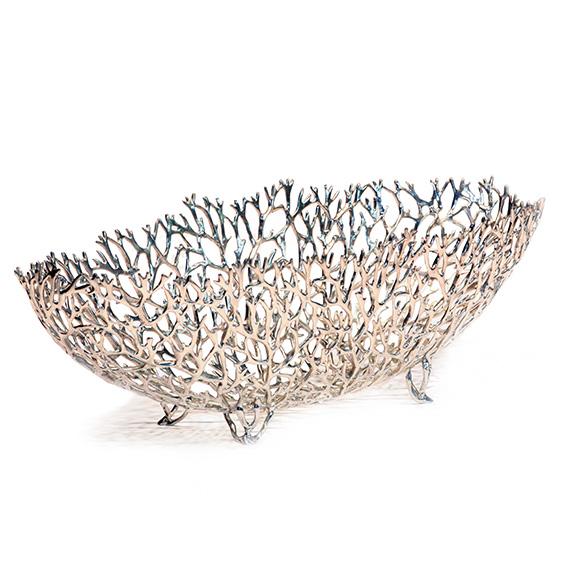 Coral Boat L poliert - Zinnschale von LOYFAR