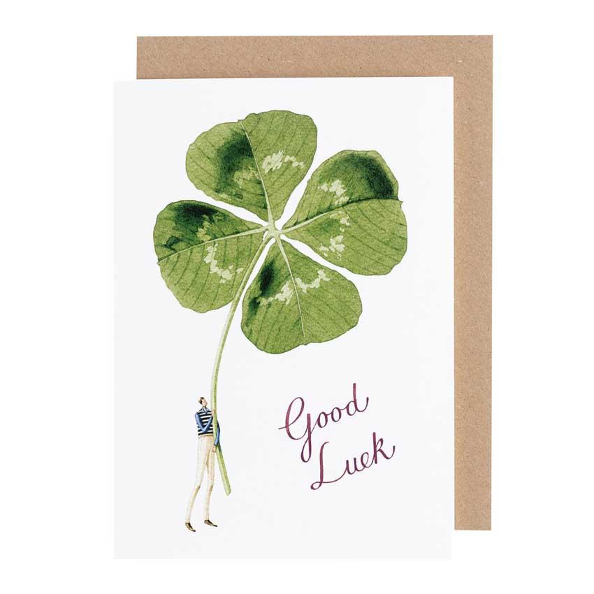 """Grußkarte """"GOOD LUCK - GENT"""" von Laura Stoddart"""