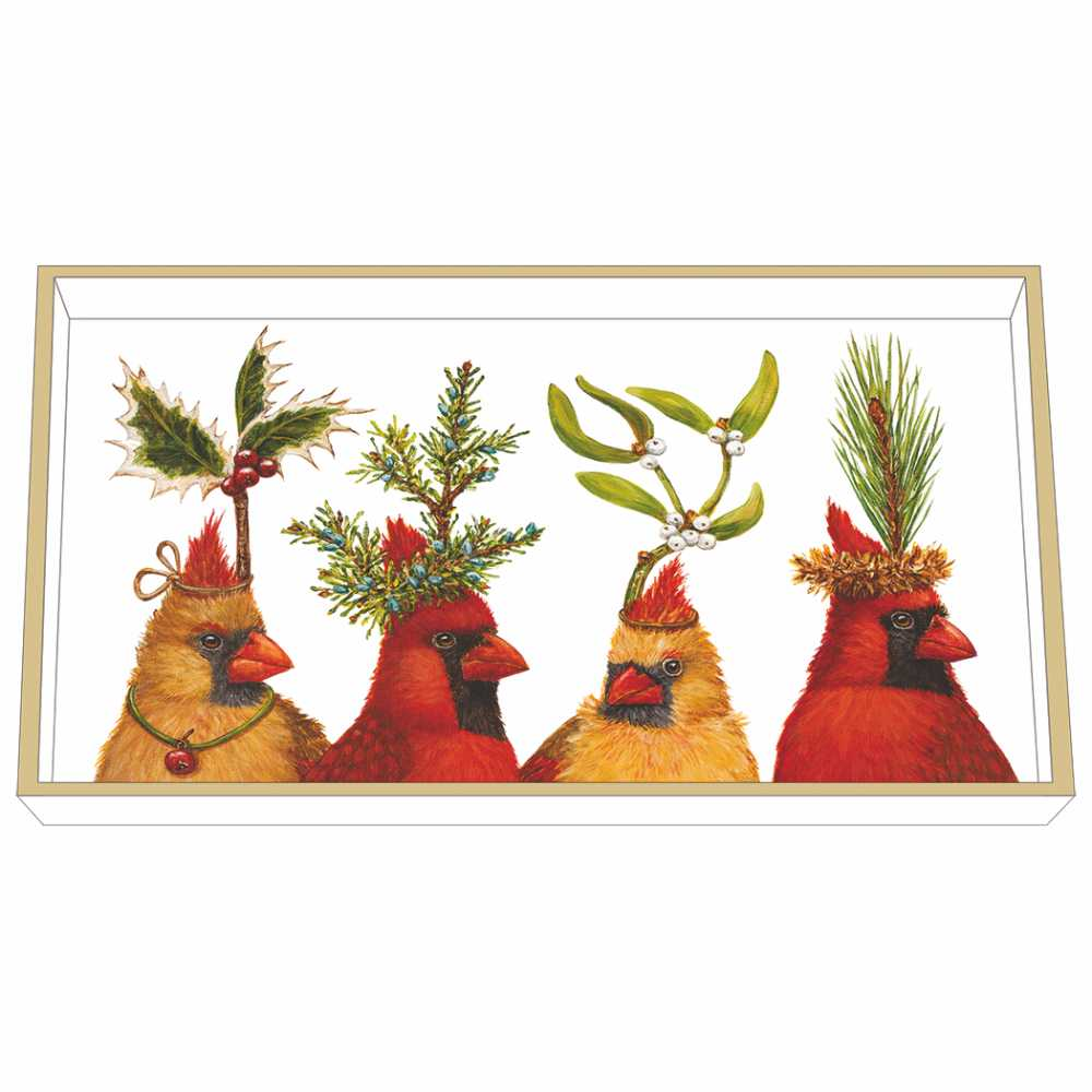 """""""Holiday Party"""" / Wooden Lacquer Tray - Tablett von PPD"""
