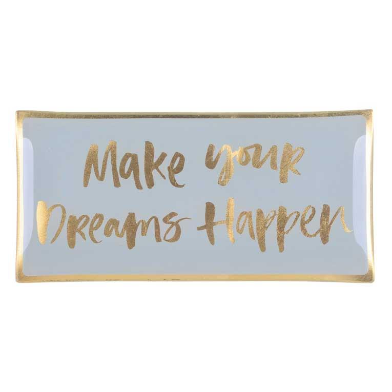 "Love Plates - Glasteller ""Make your dreams happen"" von Gift Company"