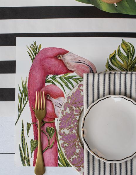 "Placemats - Papier Tischsets ""TROPICAL FLAMINGOS"" von Hester & Cook"