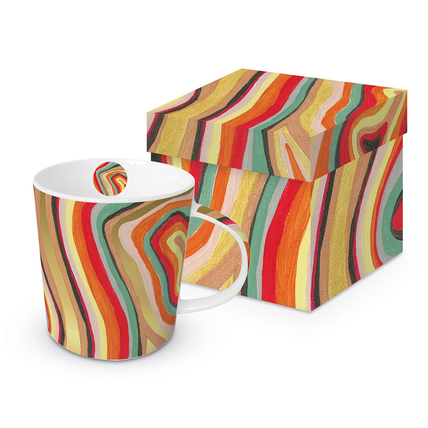 Colourful Stripes - die große Porzellantasse von PPD