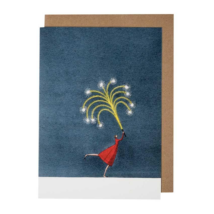 """Grußkarte """"FIREWORK"""" von Laura Stoddart"""