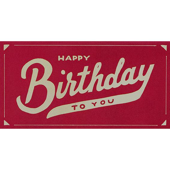 """Geburtstagskarte """"SCRIPT BIRTHDAY"""" von Hester & Cook"""